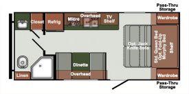 Plan intérieur de la roulotte